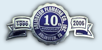 Arlington Plumbing Co Inc Celebrates 10 years of Service - 1996 to 2006
